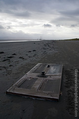 Discarded door on Dollymount strand, Bull Island, Dublin | by Dave Walsh Photography