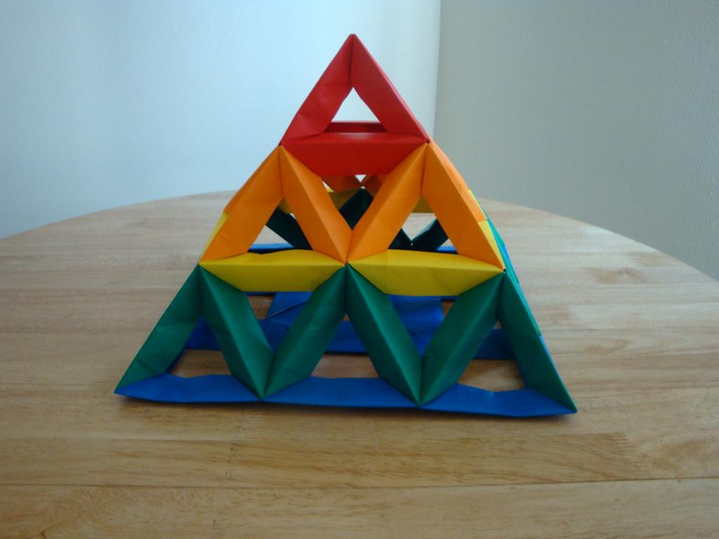 open frame unit 3x3 pyramid 2 modular origami as we prog flickr. Black Bedroom Furniture Sets. Home Design Ideas