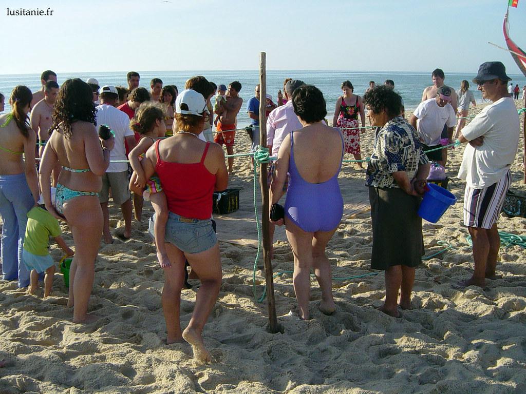 Achat de poisson sur la plage