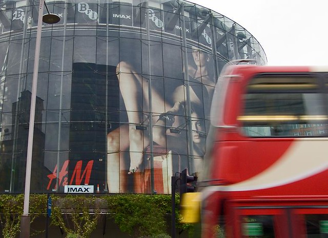 Sex Fashion And Film Hm Adorns Bfi Imax Red London Bus Flickr