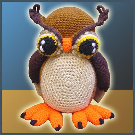 Amigurumi Horns : Horned Owl - Amigurumi Pattern by DeliciousCrochet Flickr