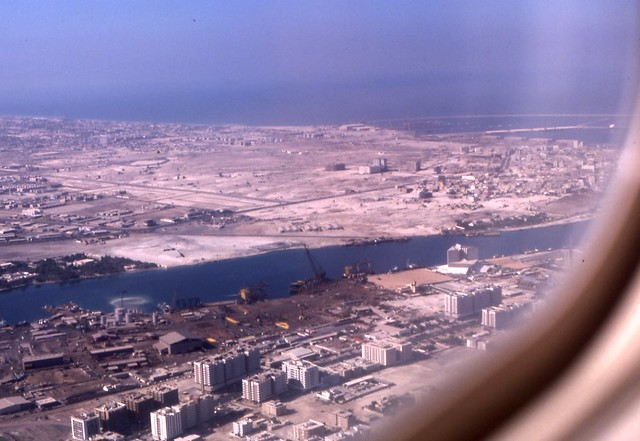 Dubai 1980 Aerial View Of Southern End Of Creek Showing Sh