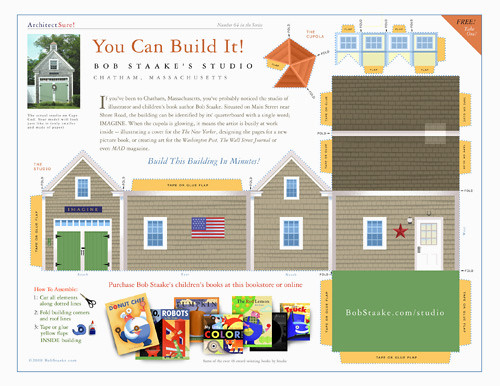 Build bob staake 39 s studio do it yourself paper model for Build a building online free