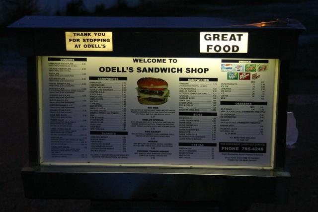 ODell's Sandwich Shop - Menu Board | burgermafia | Flickr