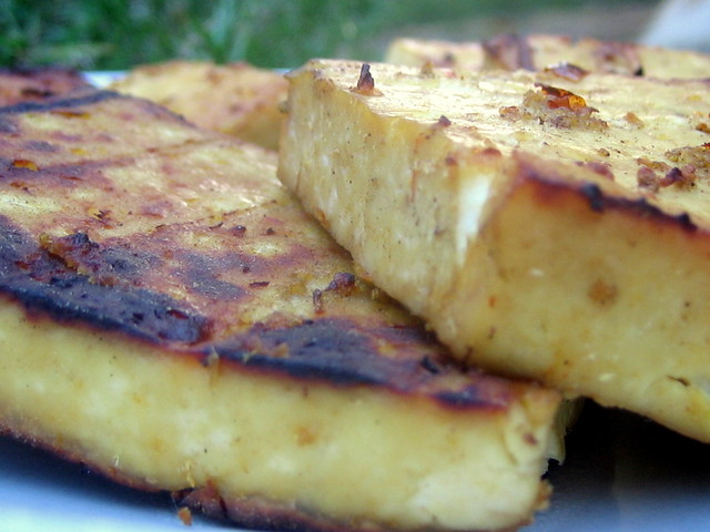 Grilled Tofu 018   Simple Grilled Tofu to try out our garage ...