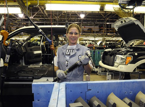 Ford Kansas City Assembly Plant Employees Celebrate The Pr