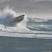 1 of 3 Coast Guard 47' Motor Lifeboat performs storm exercises in wild surf at Morro Bay