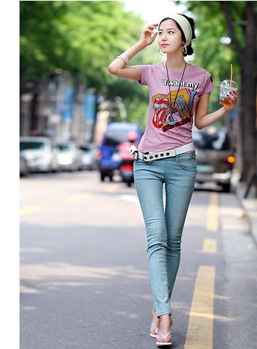 korean brand xzx small trousers top embroidered lady�s jea
