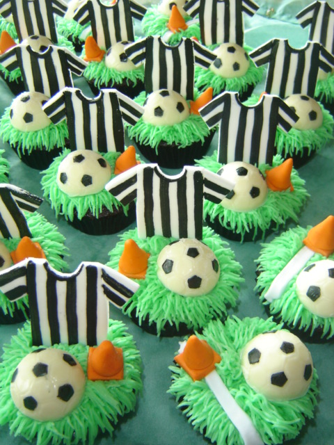 Soccer Cupcakes These Are Some I Have Made For A Bbq
