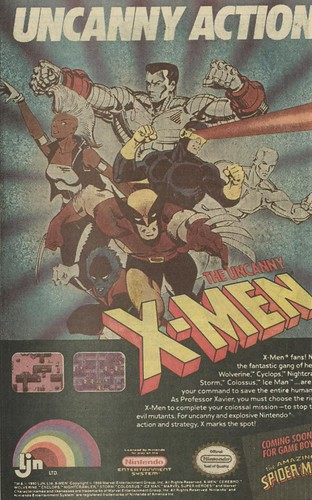 Ad for the 1990 X-Men NES game | by Paxton Holley