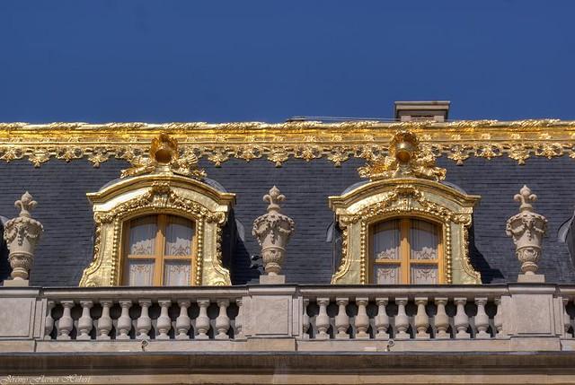 Ch teau de versailles cour de marbre les toitures for Autour de versailles