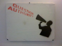 Question Authority @ ARTSpace | by heldermira