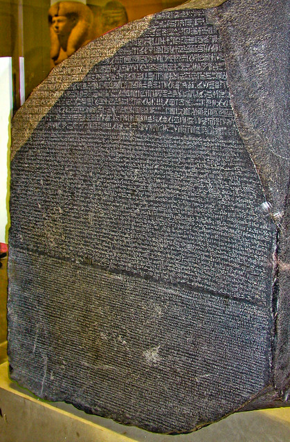 BJ906 Rosetta Stone | British Museum, London 2005. en ... Rosetta