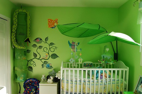 Baby 39 s room bug 39 s mural title baby 39 s room bug 39 s life for Bug themed bedroom ideas