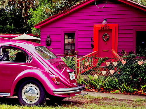 hot pink house | by The Sugar Monster