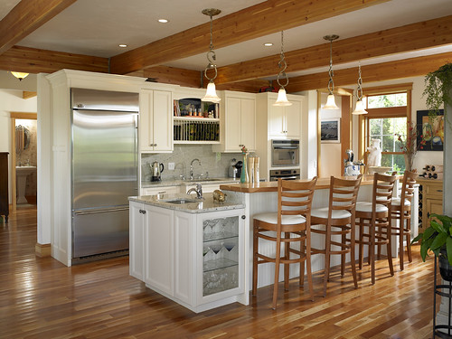 39280 kitchen in cape cod style lindal home flickr for Cape cod kitchens pictures