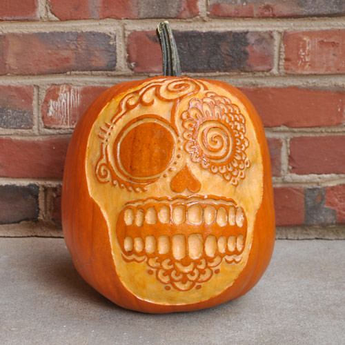 day of the dead pumpkin vote for the best pumpkin on our b flickr. Black Bedroom Furniture Sets. Home Design Ideas