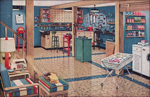 1948 Vintage Basement Workshop Amp Laundry Room American