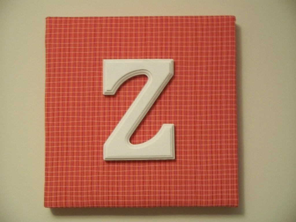 Refurbished Wood Wall Decor : Z wall hanging i painted a wooden letter and used