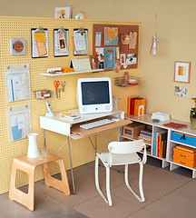 Home Office Pegboard Organizer | by decorology