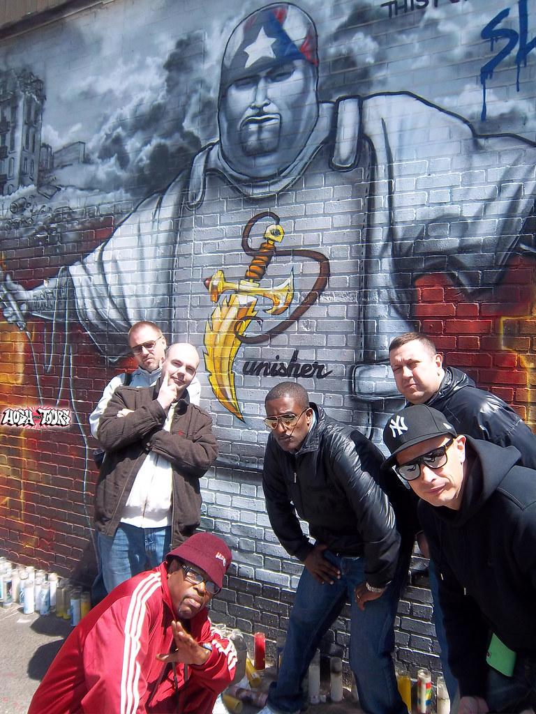 May 5 2011 hush tours vip swedish rapper petter the bronx for Big pun mural bronx