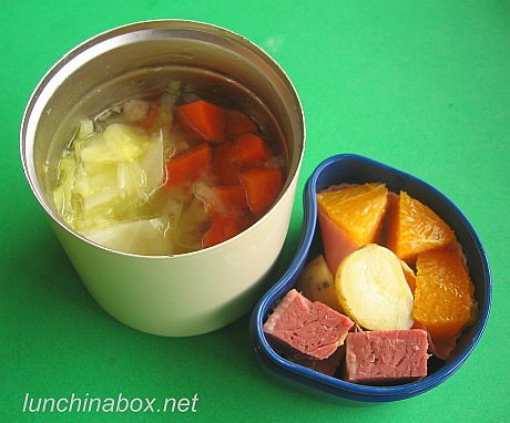 Corned beef & cabbage bento lunch for preschooler | by Biggie*