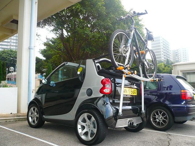 Smart Car With Bike Rack Smart Car With Bike Rack Flickr