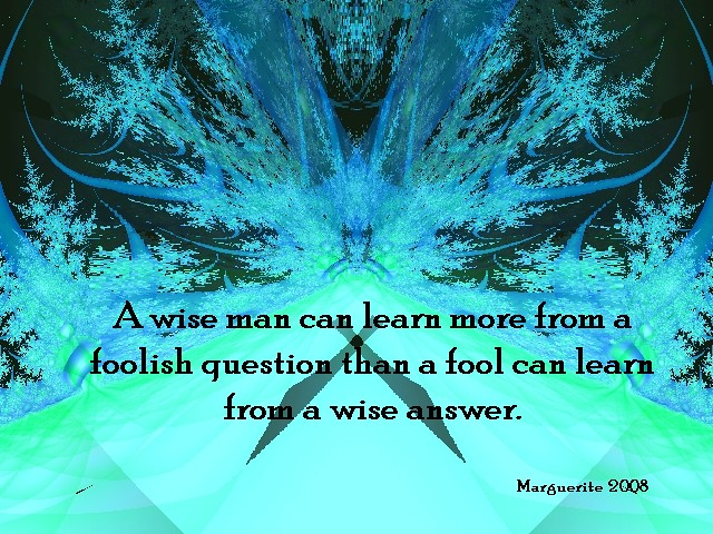 A Wise Man Can Learn More From A Foolish Question Than A F Flickr