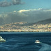 Between warships...