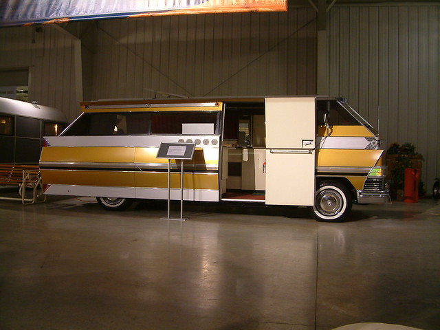 Beautiful  Covered Wagon Recreational Vehicle At The RV Hall Of Fame Indiana