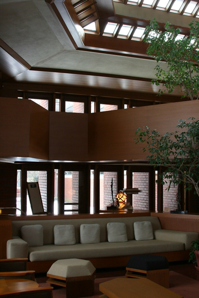wingspread interior a visit to frank lloyd wright 39 s 1939 m flickr. Black Bedroom Furniture Sets. Home Design Ideas
