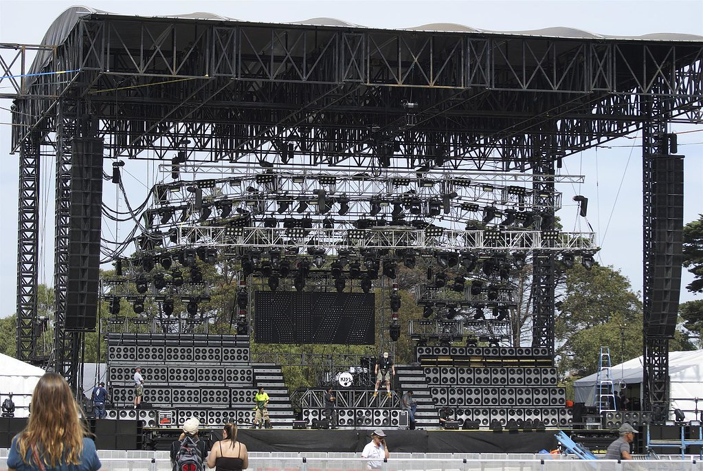 Kiss Pre Concert Setup Kiss Performs Next Day At The