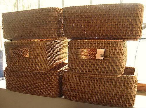 Canastas de mimbre me encantan para guardar todas las for Fabrica de canastas de mimbre