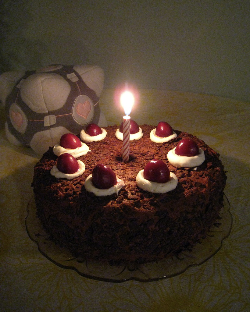 Portal Cake With Companion Cube On My Husbands Birthday T Flickr