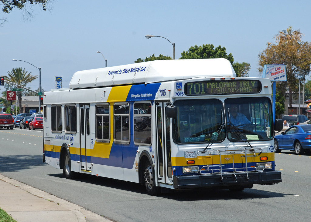 Chula Vista Transit 2001 New Flyer C40lf On H Street In