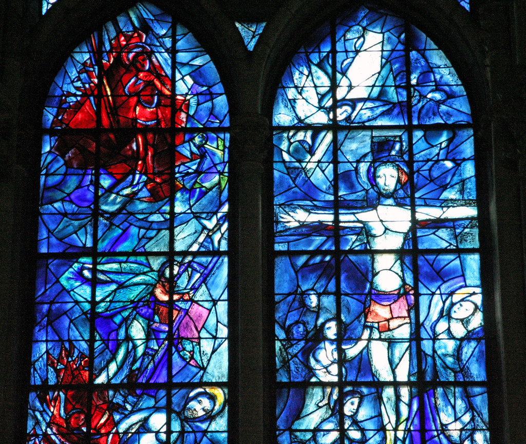 Marc Chagall - Glas-in-lood | Detail van het glas-in-lood ... Chagall Glas In Lood