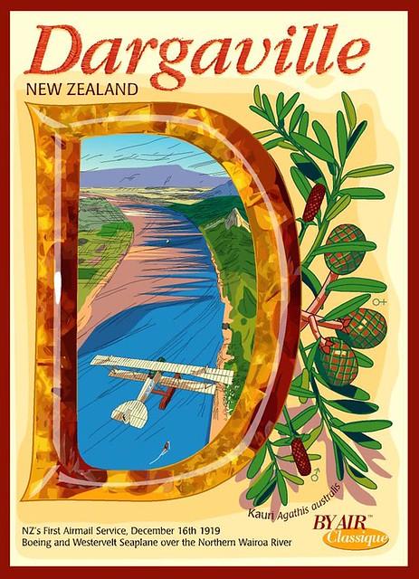 Dargaville New Zealand  City pictures : ... Deco Aviation Postcard Dargaville New Zealand | Original… | Flickr