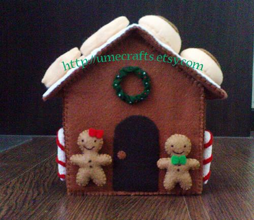 Decorated Felt Food Gingerbread House Patterns Diy Flickr