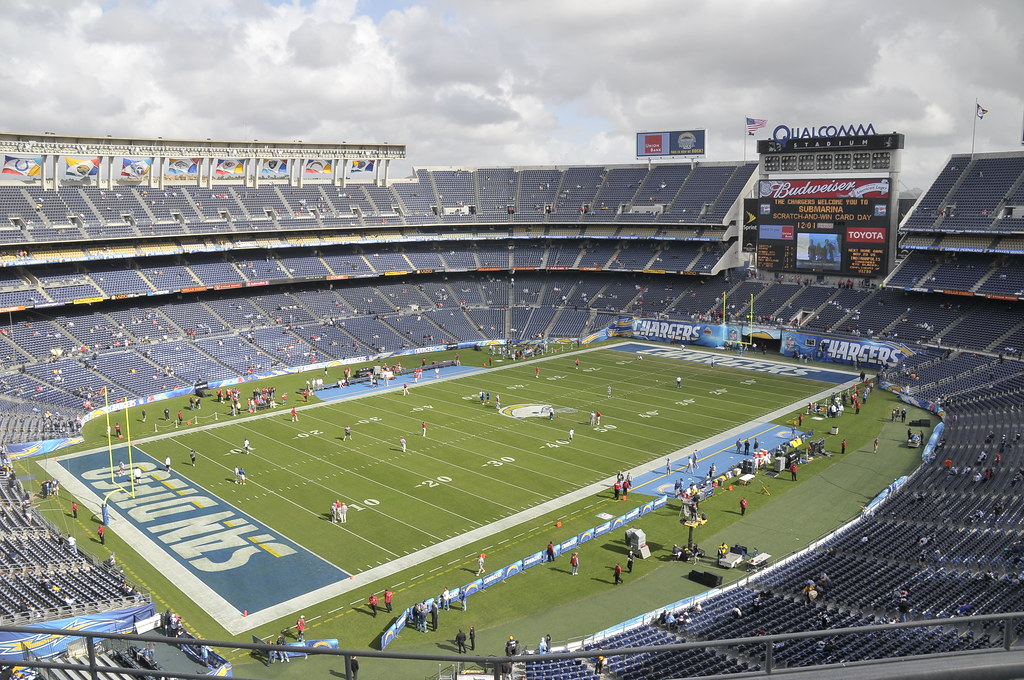 View Of Qualcomm Stadium Before The Game Sd Dirk Flickr