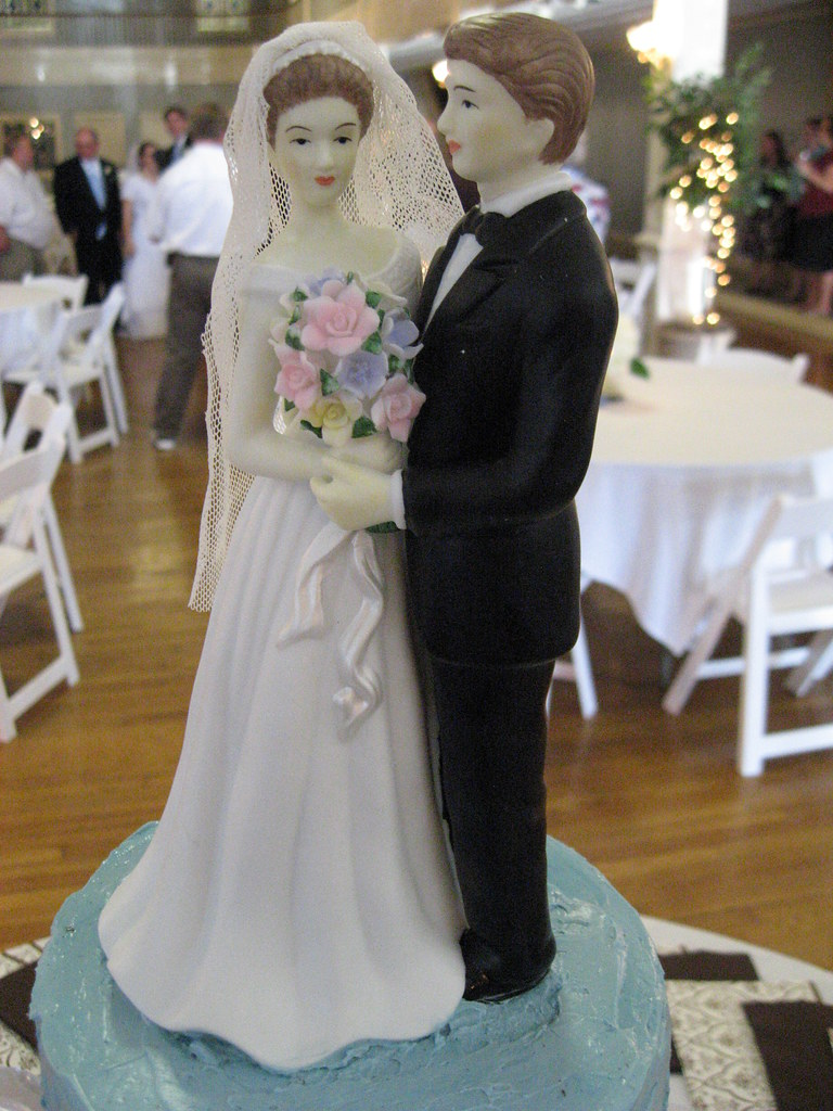 Wedding Cake Topper Funny Bride And Groom