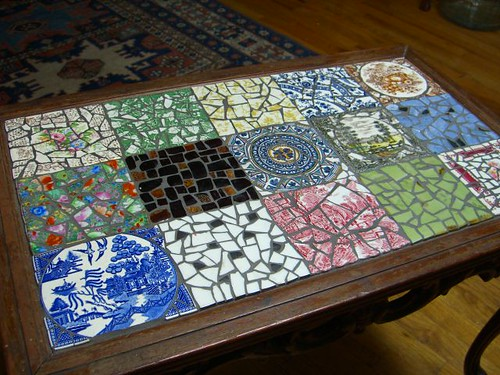 Mosaic Coffee Table top Flickr Photo Sharing
