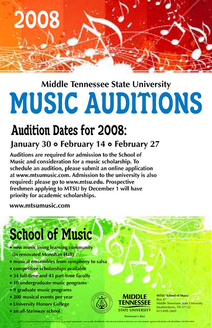 Music Audition Poster