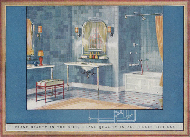 1924 Crane Bathroom Found In The American Builder