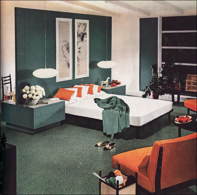 1954 Armstrong Mid Century Modern Bedroom By American Vintage Home