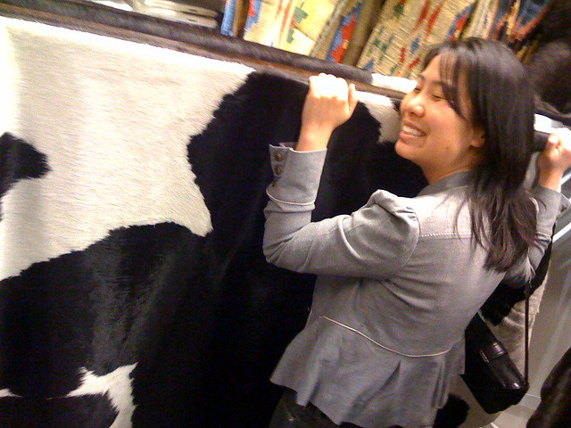 Steph Is Seriously Digging The Giant Cowhide Rugs At Ikea By Garrytan.
