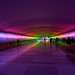 Colorfull hallway in purple
