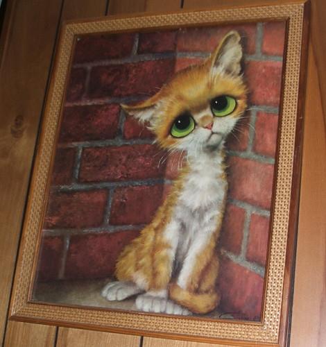 Gigi Big Sad Eyes Alley Cat Wall Art