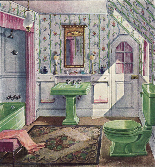 1929 Crane Bathroom Green Amp Lavender I Admit It I