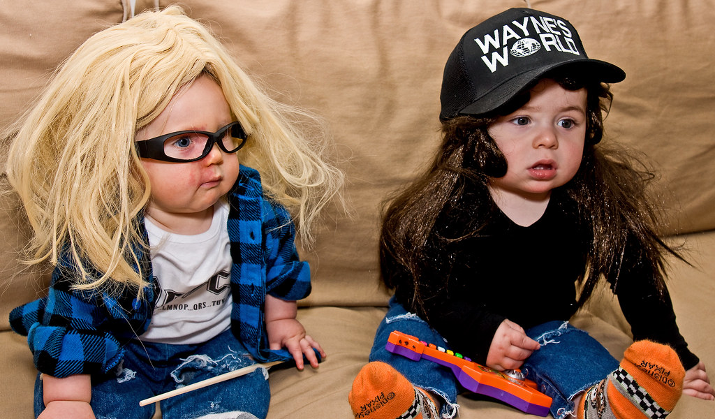 Wayne and Garth | Grandsons' first Halloween. I'll save ...