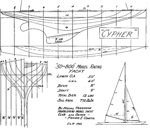 Marblehead 50/800 M Class plans Cypher model pond yacht | Flickr